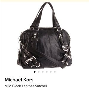 Michael Kors  ' Milo' Leather Satchel